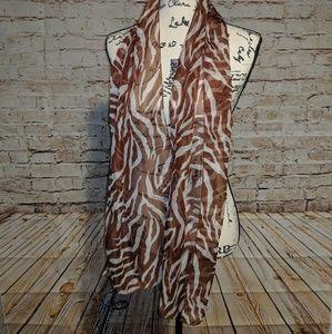 Accessories - Zebra Striped Scarf